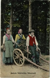 CPA AK Badische Volkstrachten - Schwarzwald - Folklore GERMANY (914822)
