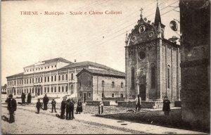 THIENE Municipio e Piazza Arturo Ferrarin giardini postcard