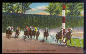 Hialeah Park Race Track Miami FL unused c1940's