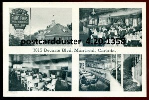 1358 - MONTREAL Quebec 1930s Decarie Blvd. Ruby Foo's Restaurant Multiview