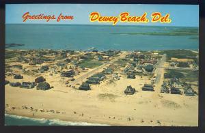 Dewey Beach, Delaware/DE Postcard, Aerial View Of Ocean & Bay