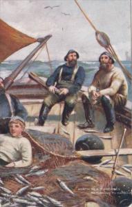 North Sea Fishermen Returning To Harbour 1907 Tucks Ye Mariners Of England Se...
