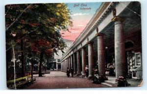 *Bad Ems Kolonnade Street View Store Fronts People Shopping Vintage Postcard A30