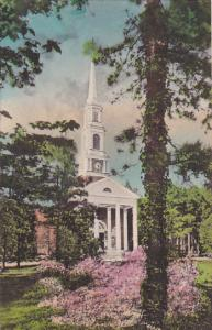 North Carolina Pinehurst The Village Chapel Handcolored Albertype