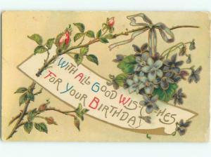 Divided-Back BEAUTIFUL FLOWERS SCENE Great Postcard AA2683