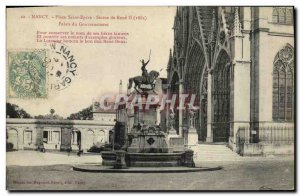 Old Postcard Nancy Place Saint Epvre Statue of Rene II Government Palace
