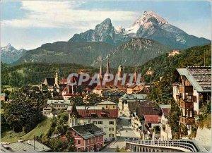 Modern Postcard Berchtesgaden mit Watzmann