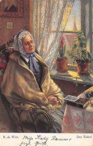 Art Post Card,Old Vintage Artist Postcard R de Witt Der Enkel Writing on back