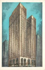 Pittsburgh~The Pittsburgher Hotel~Beautiful Soft Lumitone Colors~1930s Postcard