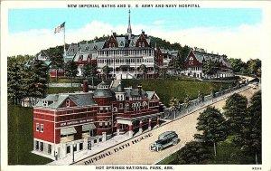 Imperial Baths U.S. Army & Navy Hospital Hot Springs Postcard Standard View Card