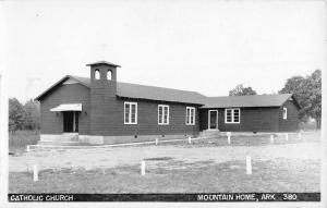 Mountain Home Arkansas Catholic Church Real Photo Antique Postcard K104105