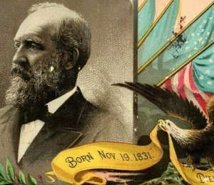 1880's President Garfield Bingham & Dodd Lithographers Printers Show Cards 7A