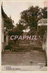 Postcard Modern Figeac Stairs Calvary