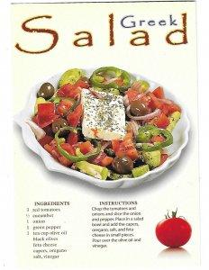 Greek Salad Recipe Card from Greece   4 by 6 card