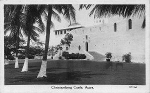 Ghana Gold Coast Accra Christiansborg Castle real photo postcard