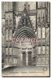 Old Postcard Bourges Cathedrale St William Gates