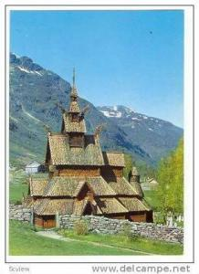 Norway, Borgund stave church, Sogn 1960-70s
