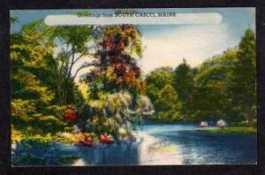 ME Greetings from SOUTH CASCO MAINE Postcard PC