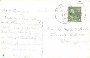 H86/ Onekama Michigan RPPC Postcard c40-50s Little Eden Camp Portage Lake 93