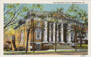 Georgia Miledgeville First Methodist Church Curteich
