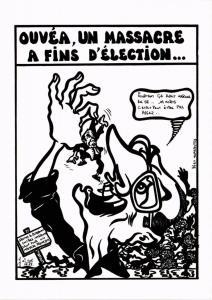 CPA Lardie caricature - Ouvéa, un massacre a fins d'élection… (285358)