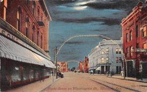Marion IN Clouds Obscure Moon in Part~Washington St~Sample Room~Lit Arches c1908