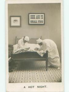 rppc 1906 Possible Gay Interest MEN SHARING BED TOGETHER AC8218