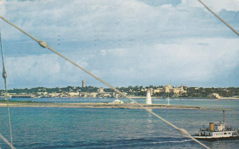 NASSAU, Bahamas, PU-1961 ; Skyline from across the Harbor