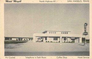 MOTEL MAGILL San Angelo, Texas Highway 87 Roadside c1940s Vintage Postcard