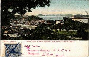 PC CPA BRAZIL, RIO DE JANEIRO, SANTA THEREZA E ANTIGO, (b11434)