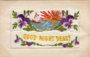 Hand Sewn, 1900-10s; Good Night Deary, Sunset Scene, Insert, To My Dear Wife