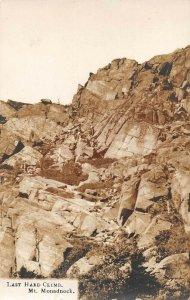LPS40 Mt. Monadnock New Hampshire Mountain View Postcard RPPC