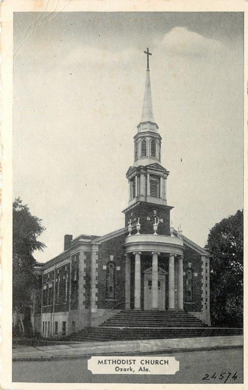 Ozark Alabama~1st United Methodist Church~Pillars in the Round~1940