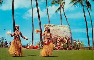 HI, Honolulu, Hawaii, Tahitian Dancers, Dexter Press No. 50091-B