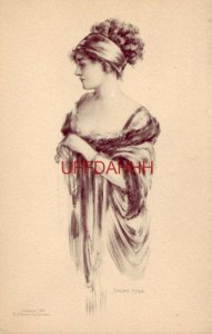 ELEGANT WOMAN ILLUSTRATION - MARJORIE McMEIN cpyrt 1910 M A Templeton