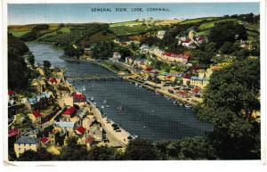 postcard Cornwall LOOE, General View,  posted 1961 Dennis Productions