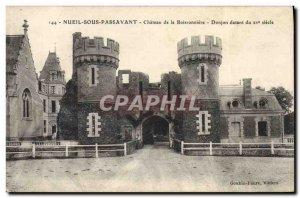 Old Postcard Chateau of Boissonni?re Dungeon Nueil sous Passavant