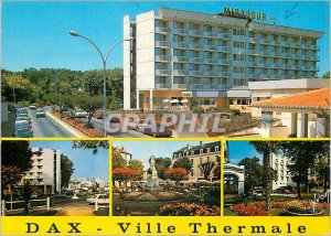 Modern Postcard Dax (Landes) Colors and Light of France Thermal City Boulevar...