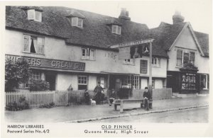 Queens Head High Street Pinner Middlesex Pub Postcard