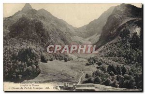 Postcard Old Surroundings of Luchon France and Hospice Way Port of Venasque