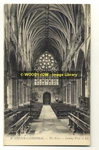 tp1908 - Exeter Cathedral ,The Nave , Devon - LL postcard no 9