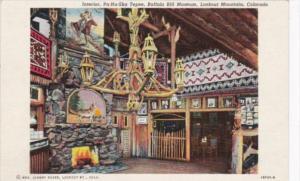 Colorado Lookout Mountain INterior Pa-Ha-Ska Tepee Buffalo Bill Museum Curteich