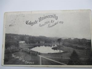 Multi View Folding Colgate University, Hamilton New York c1912 Postcard L10