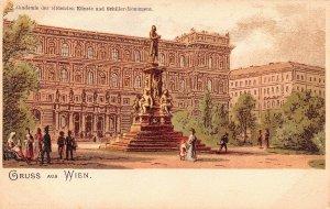 Akademie der bildenen Kiinste und Schiller Monument Austria Unused