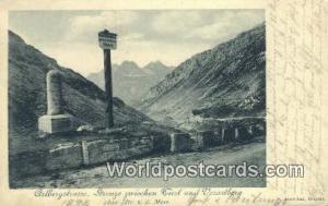 Arlbergstrasse Germany, Deutschland Postcard Grenze znischen Arlbergstrasse G...