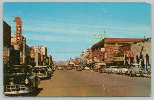 Las Cruces NM Myers Farm Machinery~College Florist~Curios~FN Bank~Liquors~1953