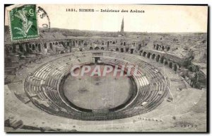 Old Postcard Nimes Interieur des Arenes