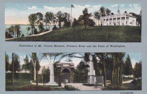 WASHINGTON, D.C., 1900-10s; PAnoramas of Mt. Vernon Mansion, Potomac River & ...