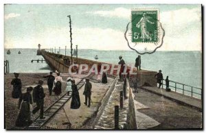 Old Postcard Le Havre The new pier