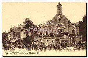 Old Postcard La Baule Sorlie Mass